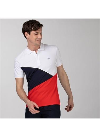 Lacoste Lacoste Erkek Regular Fit Renk Bloklu Renkli Polo Renkli